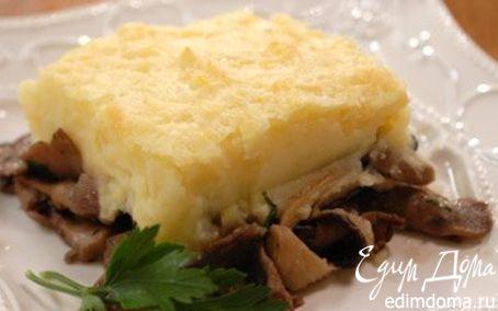 Рецепт Запеканка из грибов и пюре