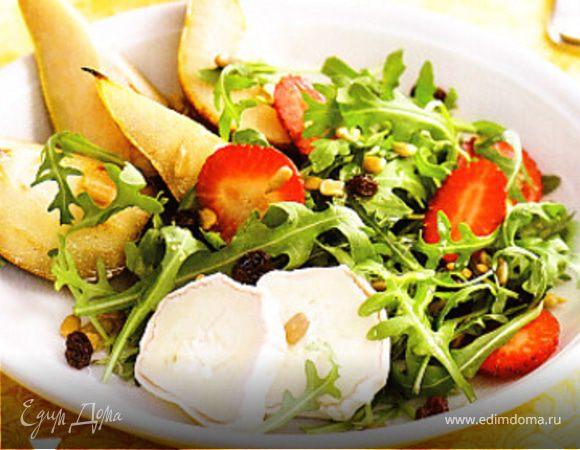 Салат из руколы, груши и сыра