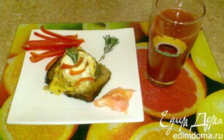 Рецепт Рыба в фольге на кусочке хлеба