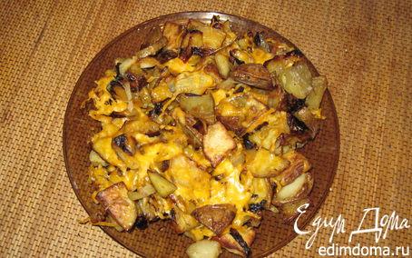 """Рецепт """"Пикничок в духовке"""" картошечка и лук"""