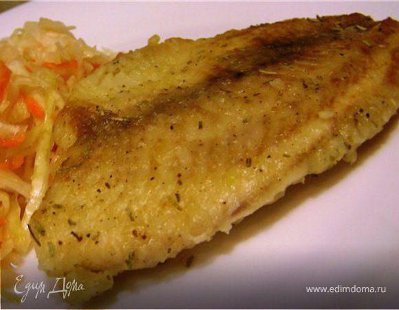 Жареная рыба с розмарином и чесноком