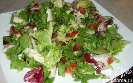 Рецепт Микс-салат с моцареллой и виноградом