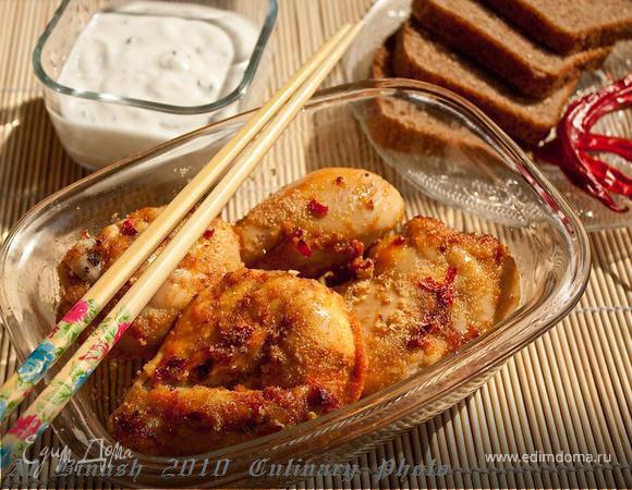 Курица с острым перцем и мёдом