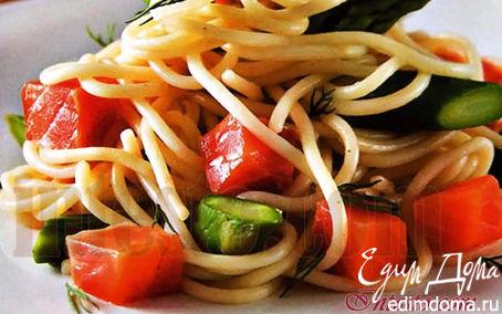 Рецепт Спагетти со стручковой фасолью