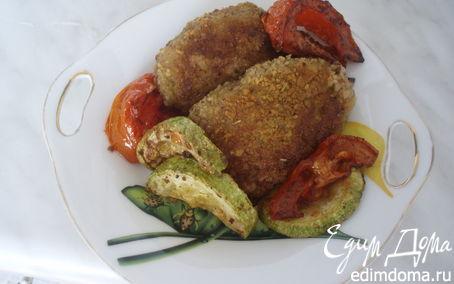 Рецепт Котлеты с овощами и сыром