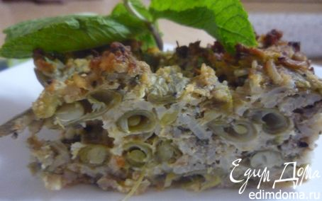 Рецепт Запеканка из зеленой фасоли