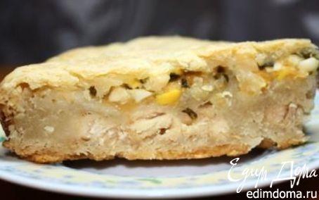 Рецепт Пирог с мясом, луком, яйцами и сыром