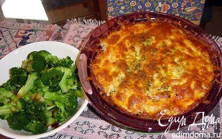 Рецепт Запеканка с брокколи и сырным соусом