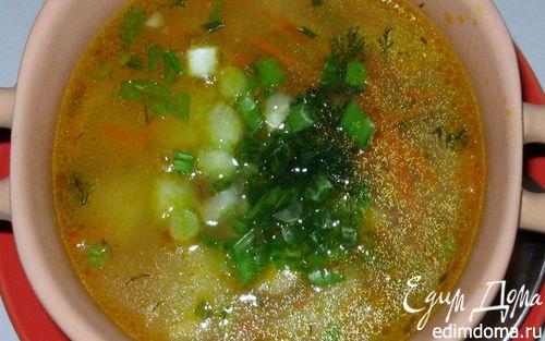 Рецепт Суп с овсяными хлопьями и маринованным огурчиком