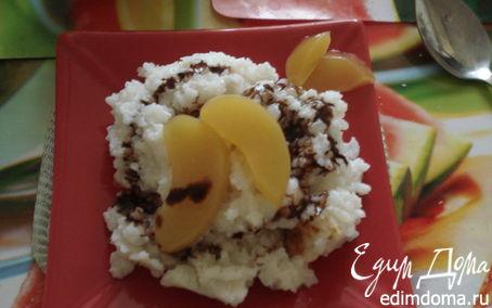 Рецепт Рисовая каша с персиком