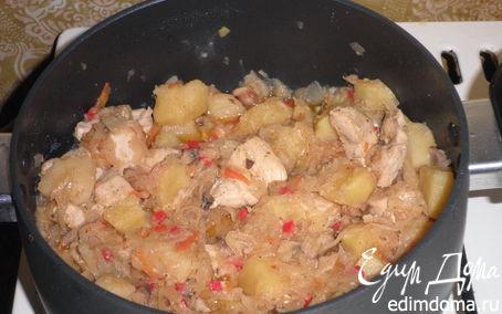 Рецепт Солянка картофельная с квашеной капустой