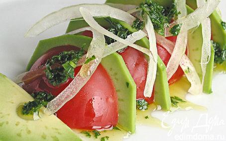 Рецепт Салат из авокадо с томатами