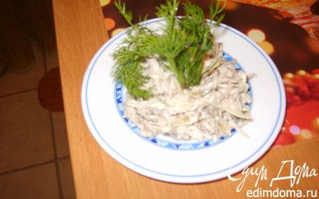 Рецепт Салат- здоровье из капусты, ревня и сельдерея