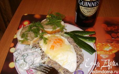 Рецепт Гречневая лапша с козьим сыром и фундуком
