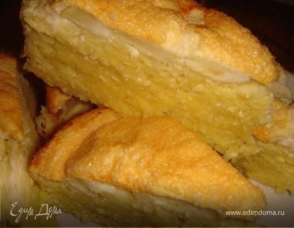 Яблочно-творожный торт