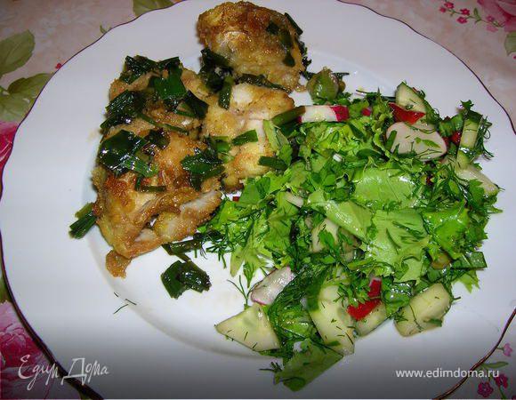 Рыба, жаренная с вином и сладким соевым соусом