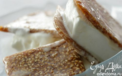 Рецепт Йогуртовое мороженое с козинаками