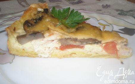 Рецепт Киш с курицей и помидорами