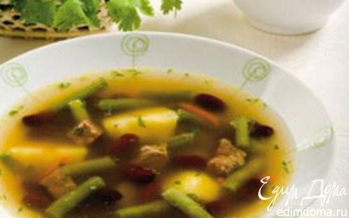 Рецепт Суп с зеленой и красной фасолью