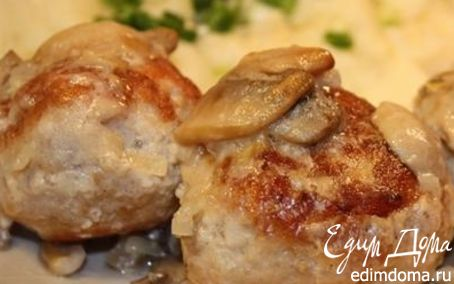 Рецепт Тефтели под грибным соусом