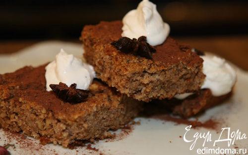 Рецепт Пирог с грецкими орехами и кофейным сиропом
