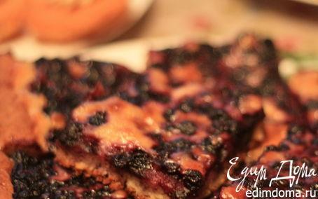 Рецепт Чернично-сливочный пирог