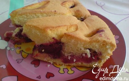 Рецепт Сливово-яично-ликёрный пирог