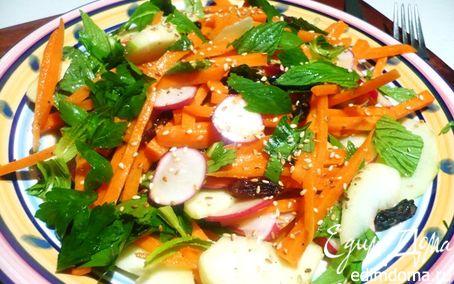 Рецепт Хрустящий салат с тахини