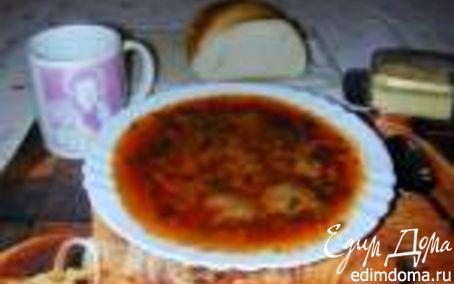 Рецепт Борщ с белыми грибами и пампушками