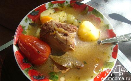 Рецепт Наваристый походный супчик из телятины с овощами
