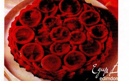 Рецепт Карамельный апельсиновый открытый пирог