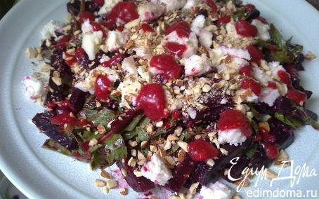 Рецепт Салат из запеченной свеклы и козьего сыра