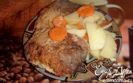 Рецепт Щука фаршированная, рыбные котлеты тушенные с картофелем