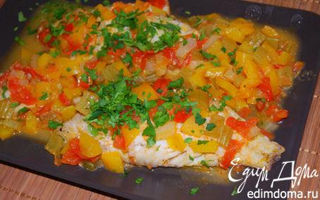 Рецепт Морской окунь в овощах