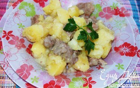 Рецепт Тушеный картофель со свининой