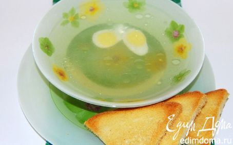 Рецепт Куриный бульон с гренками