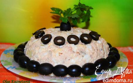 Рецепт Салат из копченой горбуши