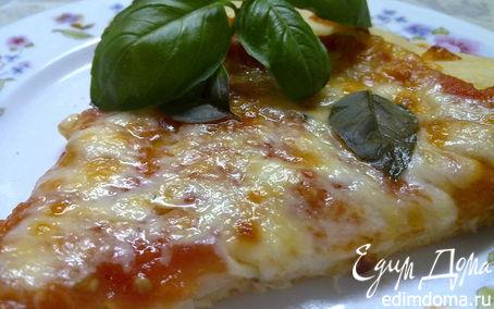 "Рецепт Пицца ""Маргарита"" из дрожжевого теста на кефире"