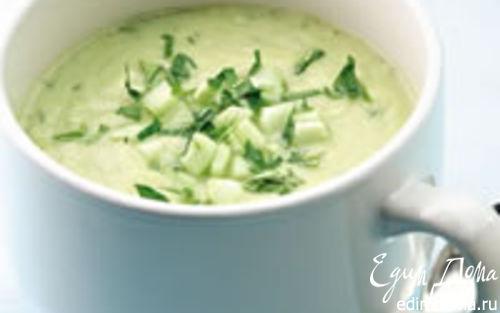 Рецепт Летний суп с огурцом и авокадо