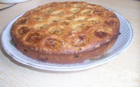Рецепт Йогуртовый пирог с бананами