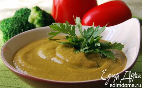 Рецепт Суп-пюре из брокколи и красного перца
