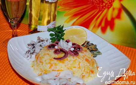 Рецепт Рис с морским коктейлем