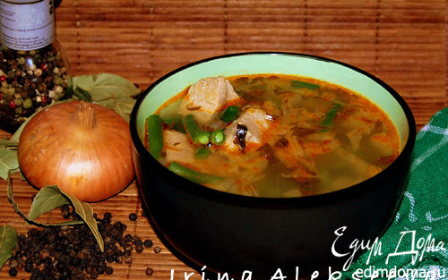 Рецепт Суп из свинины со стручковой фасолью