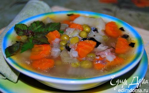 Рецепт Суп из тушенки с базиликом