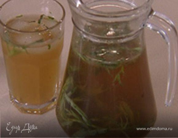 Напиток из тархуна и лайма