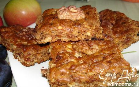 Рецепт Печенье с яблоками, финиками и грецкими орехами