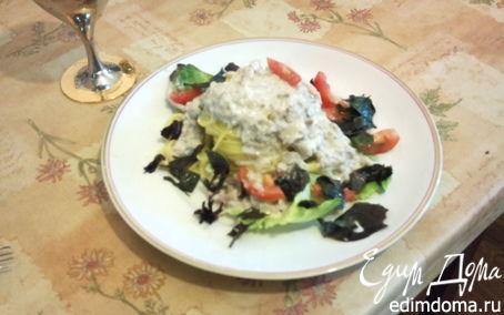 Рецепт Гнёзда под соусом из шампиньонов и ветчины