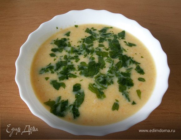 Суп-пюре из белой фасоли с грушей