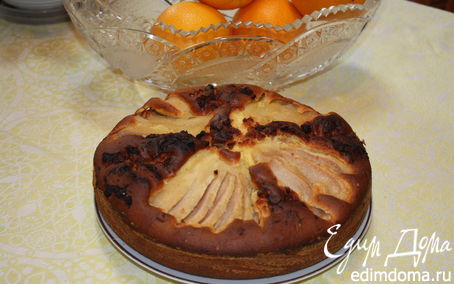 Рецепт Шарлотка с грушами и орехами