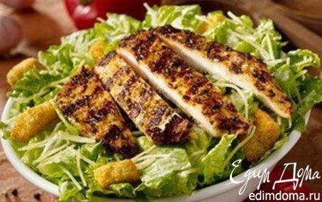 Рецепт Салат из куриной грудки и авокадо